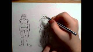 "How to draw ""fat"" People - Drawing Tutorial"