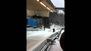 Igls Austria Bobsleigh push start