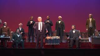 Donald Trump audio-animatronic figure at the new Hall of Presidents thumbnail