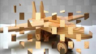 Wooden toy kit - F16 Fighter