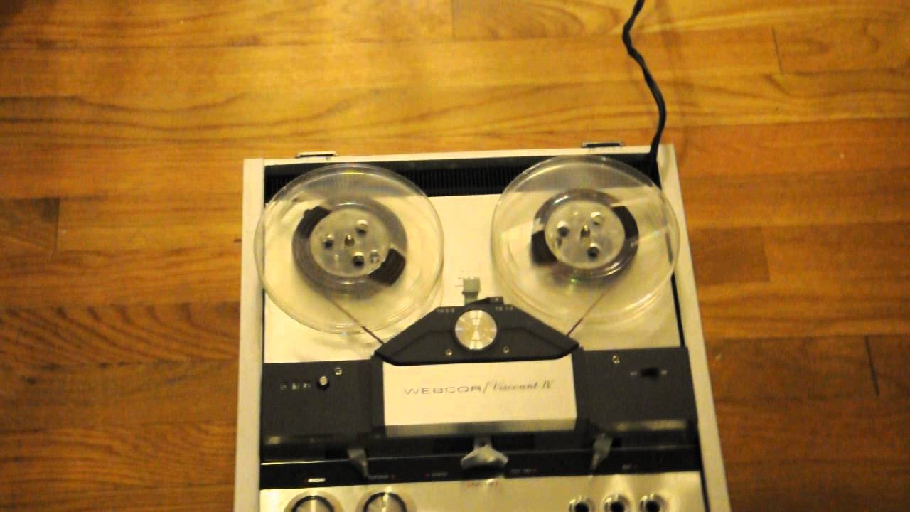tape vintage recorders webcor