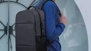 간단한 노트북 여자 남자 학생 비즈니스 여행 배낭 책가…