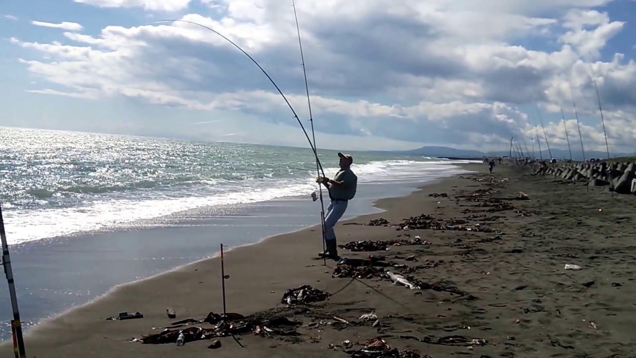 苫小牧鮭釣り - YouTube
