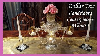 Gorgeous and Unique Dollar Tree Candelabra Centerpiece DIY Home Decor
