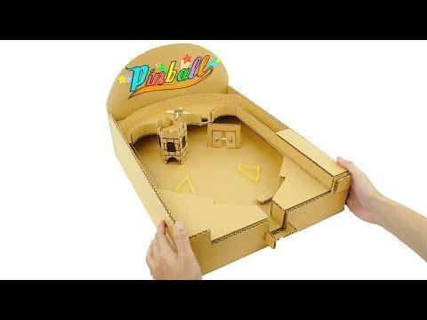 How to Make Amazing Pinball Game Machine from Cardboard