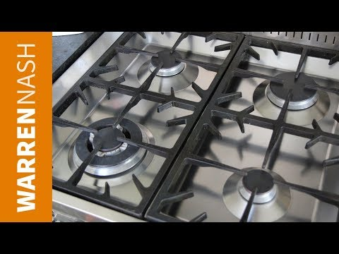 How to clean a stove top burner - For Gas Hob - Recipes by Warren Nash