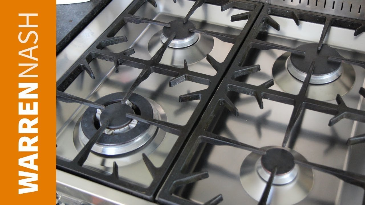 how to clean a stove top burner for gas hob recipes by warren nash youtube. Black Bedroom Furniture Sets. Home Design Ideas