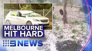 Supercell thunderstorm hits Melbourne | Nine News Australia