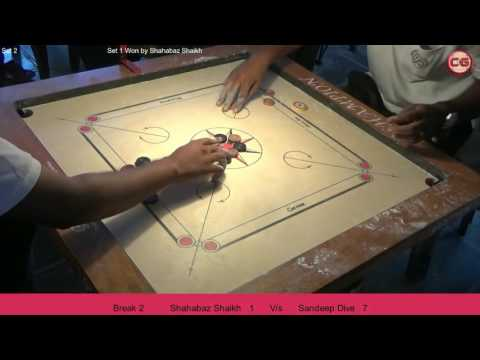 SF Sandeep Dive Vs Shahabaz Shaikh Set 2 Mumbai Suburban District Carrom Organised Mayor Cup