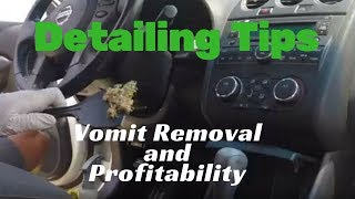 Detailing Tips: Vomit removal and profitability