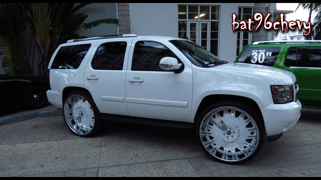 Custom Chevy Tahoe On 32 Quot Forgiatos 1080p Hd Youtube