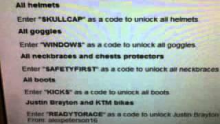 mx vs atv cheat codes reflex