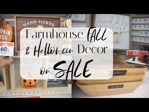 AMAZING Fall & Halloween FARMHOUSE Decor| Shop With Me at Joann Fabrics| Megan Navarro