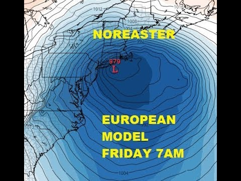 NOREASTER THREAT LATE WEEK EAST COAST, COLD SNOW EUROPE BRITAIN LATE WEEK THANKS TO BLOCKING