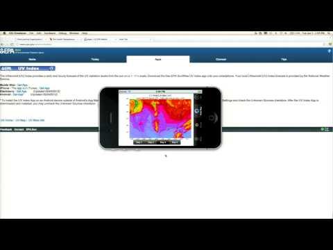EPA UV Index [U S  EPA SunWise Program] App Demo - YouTube