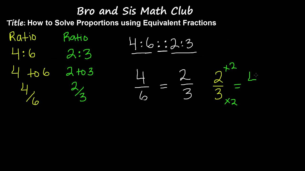Solve Proportions By Using Equivalent Fractions 7th