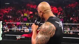 the rock reveals the new wwe championship belt 2013 wwe raw 2 18 13