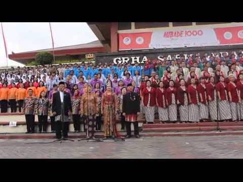 Maju Tak Gentar Aubade 1000 dari Jogja ntuk Indonesia(Dok:Alex Wisnu.M)