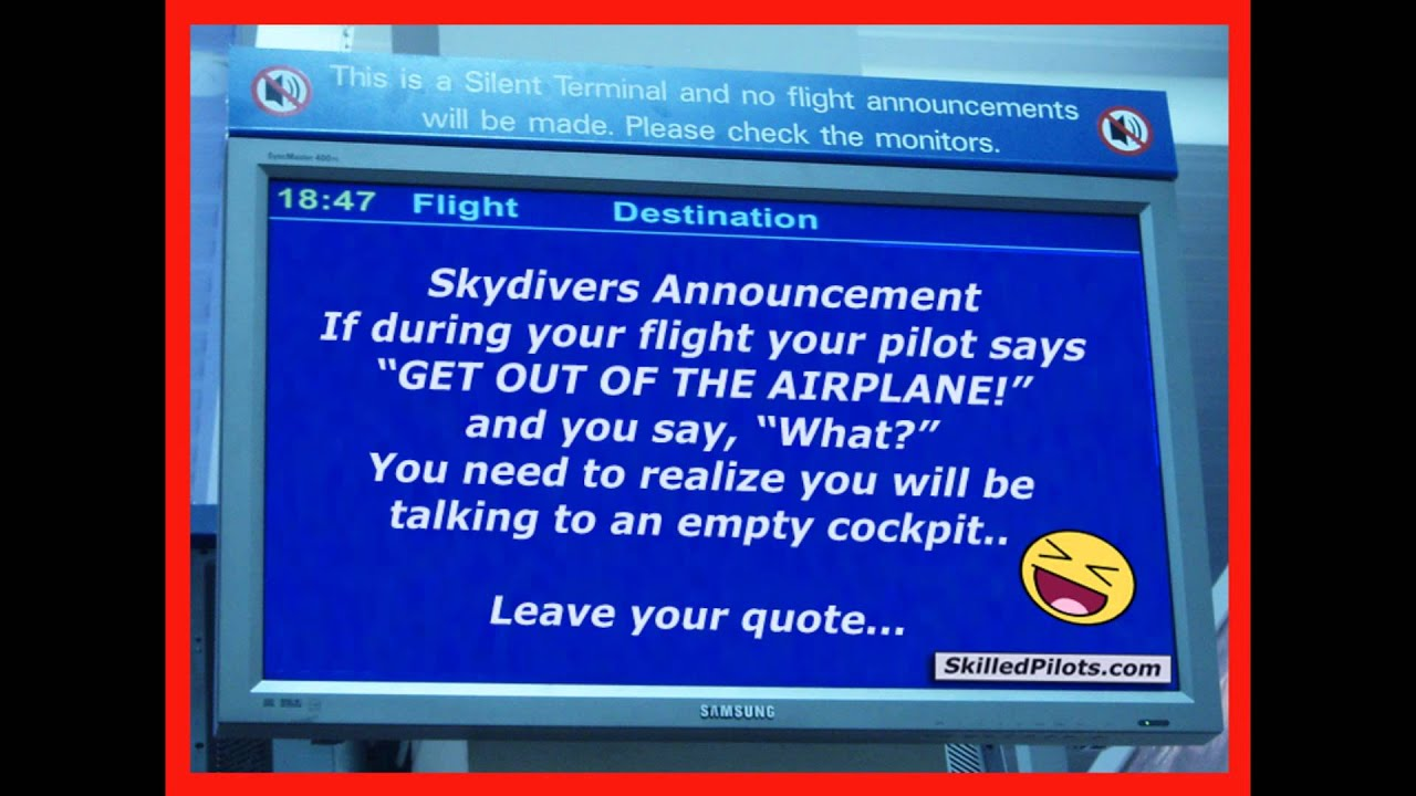 Hilarious Funny Aviation Quotes Airport Announcements
