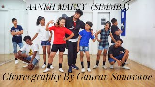 AANKH MAREY | SIMMBA | COVER DANCE | CHOREOGRAPHY BY GAURAV SONAVANE