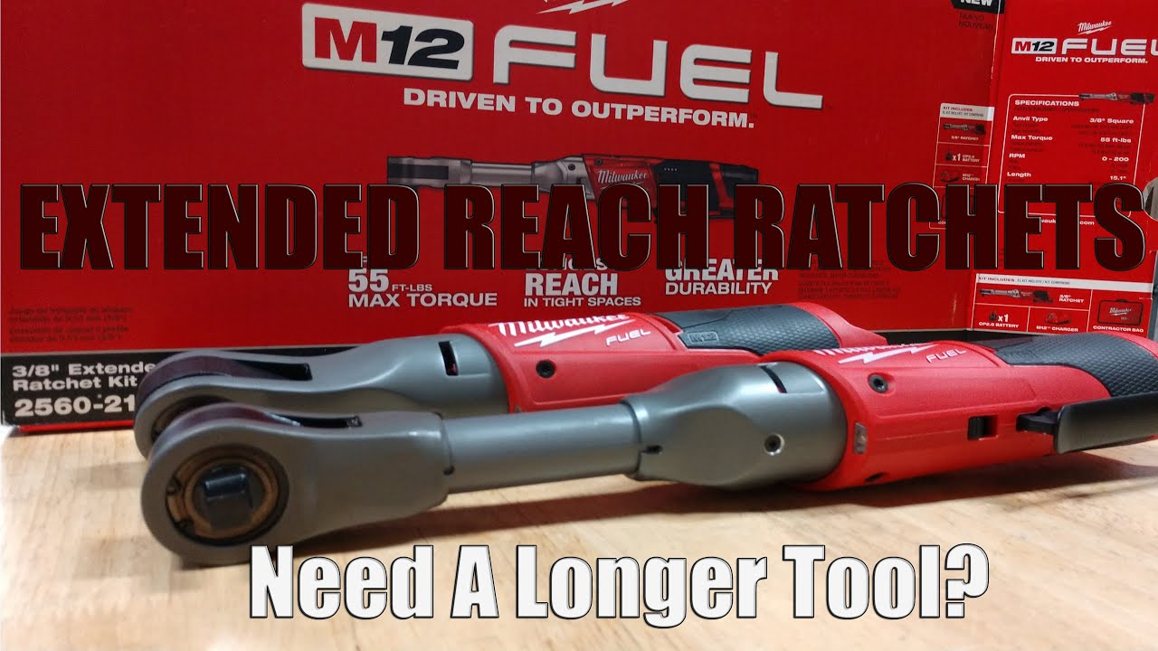 Milwaukee Tool M12 FUEL Extended Ratchets in 3/8