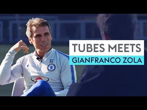 Who picks on Gianfranco Zola at Chelsea?  Tubes Meets