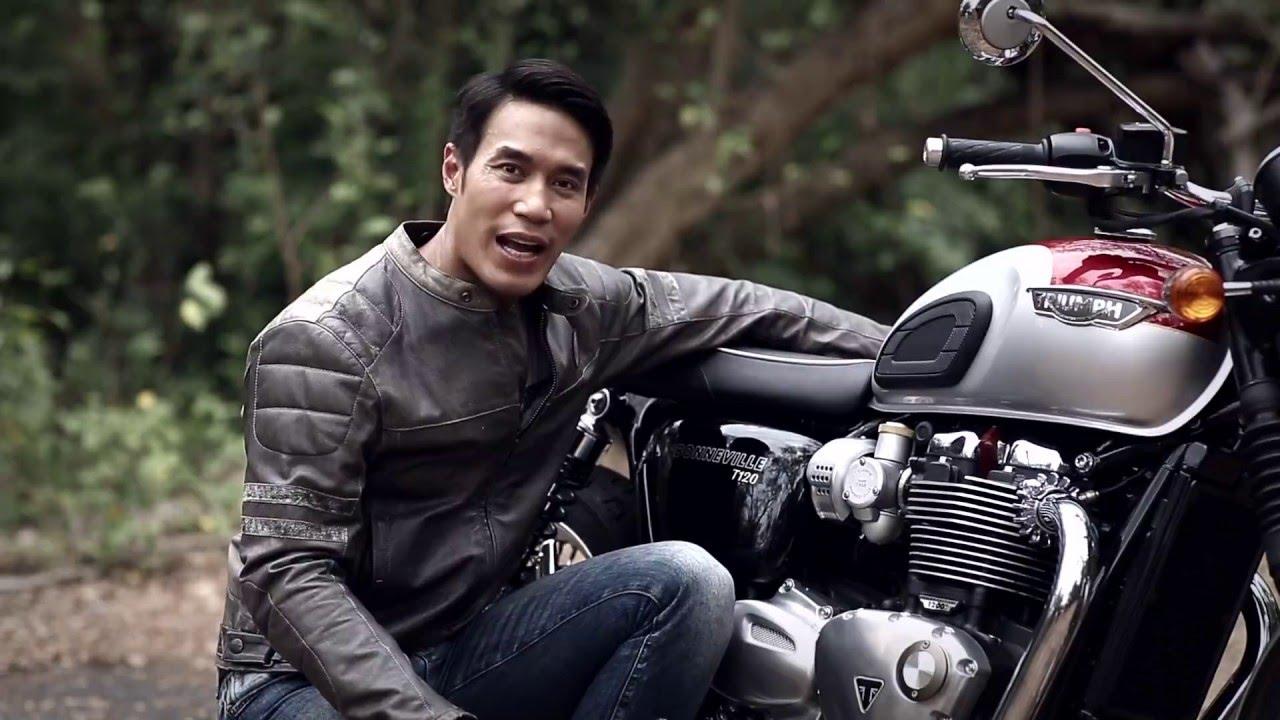 Triumph Retro Rider Motorcycle Retro Moto Black Leather Jacket