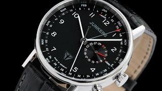 Junkers 6734-2 Eisvogel F13 40mm German Made Leather Strap Watch w Swiss Date Week Month Movement