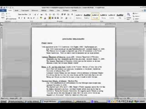 Nhd Paper Work How To Create An Annotated Bibliography
