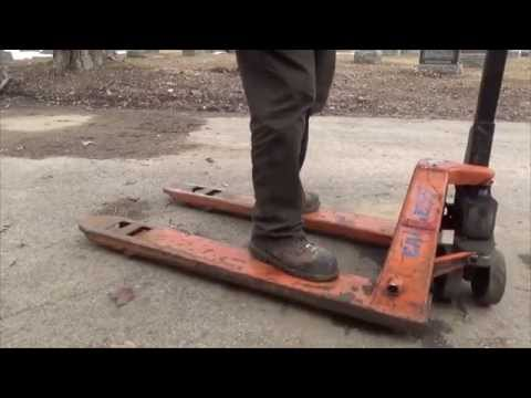 Princess auto flier and reparing the pallet jack wheel
