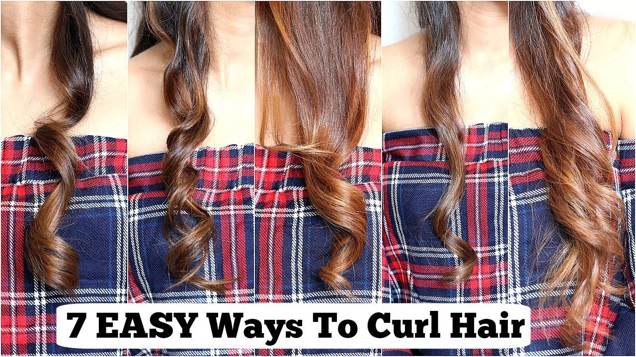 18 ELEGANT Ways To Curl YOUR Hair With Straightener/ Flat Iron  EASY Curls  For Medium To Long Hair