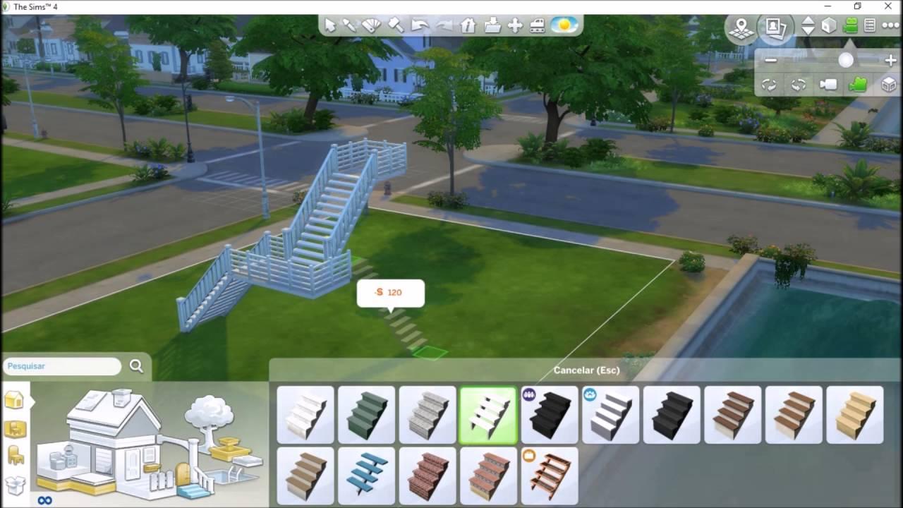 Algumas formas diferente de escadas no the sims 4 youtube for Piscina sims 4