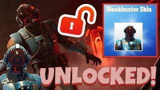 BLOCKBUSTER SKIN UNLOCKED! ~ THE VISITOR! - FORTNITE BATTLE ROYALE!