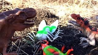 ГИГАНТСКИЕ НАСЕКОМЫЕ - Битва с Тираннозавром - 2 серия. Мир доисторических животных -ДИНОЗАВРЫ
