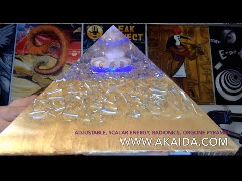 Adjustable Scalar, Orgone, Radionics Pyramid - Energy is Off the Hook!