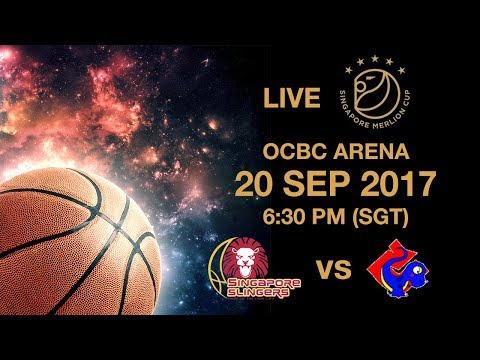 Basketball 🏀 ​Singapore Slingers 🇸🇬 vs 🇹🇼 Yulon Luxgen Dinos | Singapore Merlion Cup 2017