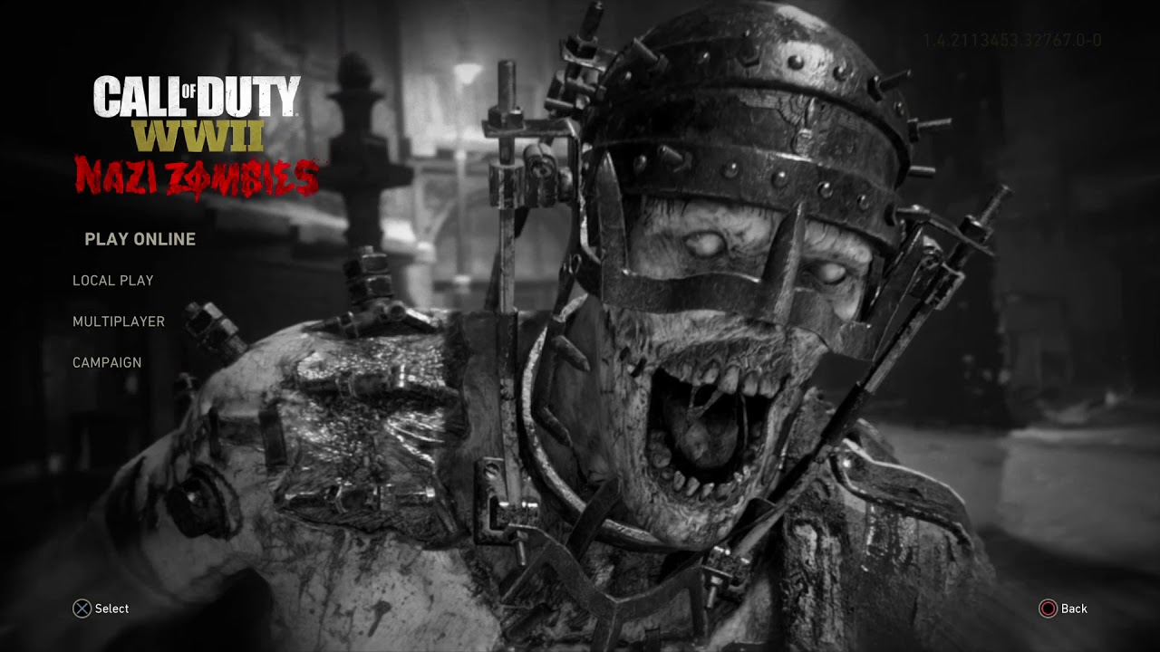 Call Of Duty World War 2 Nazi Zombies Menu Theme Youtube