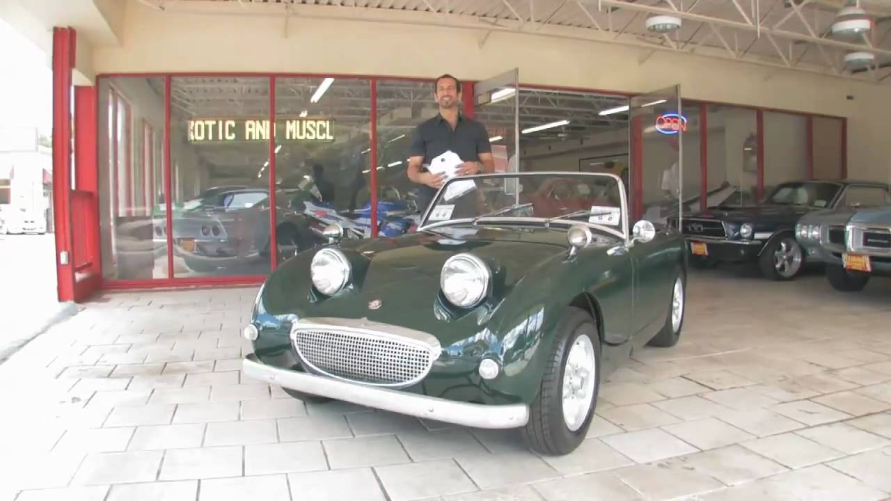 1960 austin healey bug eye sprite for sale with test drive driving rh youtube com