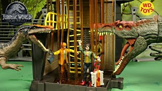 New 3 Jurassic World Action Figures Zia & Triceratops, Spinosaurus Vs Baryonyx Claire  Unboxing Toys