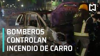Incendio de auto en la Venustiano Carranza, es controlado - Las Noticias