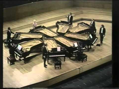 Beethoven - Turkish March (arr. for 8 pianos; Larrocha, Bolet, etc.)