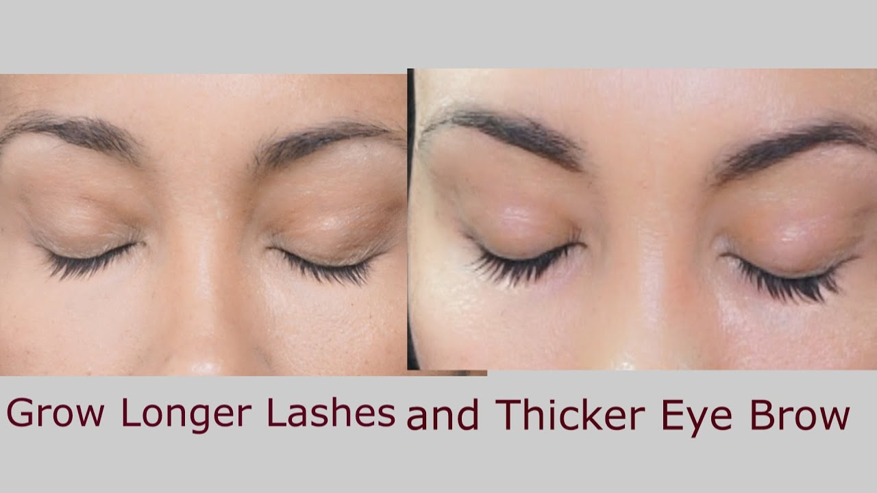 How to grow longer lashes and thicker eyebrows