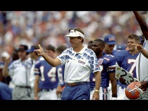 Steve Spurrier QB Drills Florida Gators