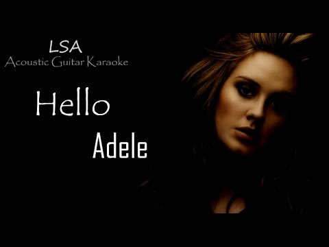 Hello - Adele (Acoustic Guitar Karaoke Instrumental) with Ly