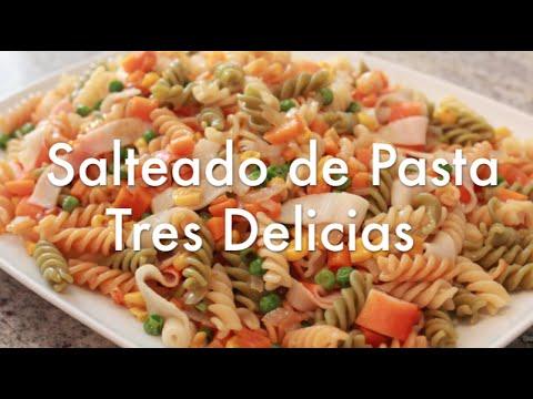 Pasta tres delicias recetas de cocina youtube for Cocinar noodles