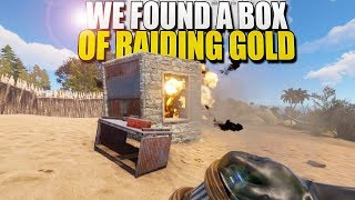 WE FOUND A BOX OF RAIDING GOLD (Rust Survival) #173