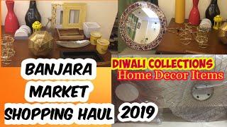 Banjara Market Home Decor Shopping Haul || Diwali Collection 2019 ||Indian Vlogger Soul Twin Sisters