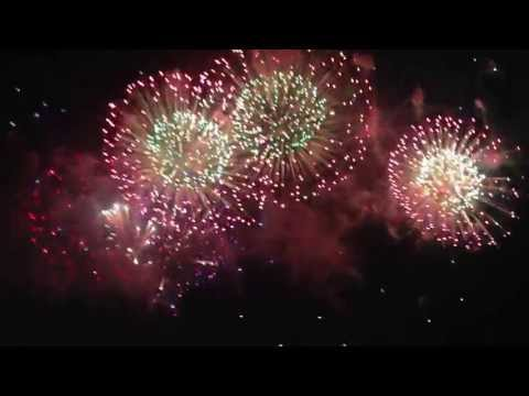 4th of July Itasca IL  FireWork -with song The Battle Hymn of the Republic