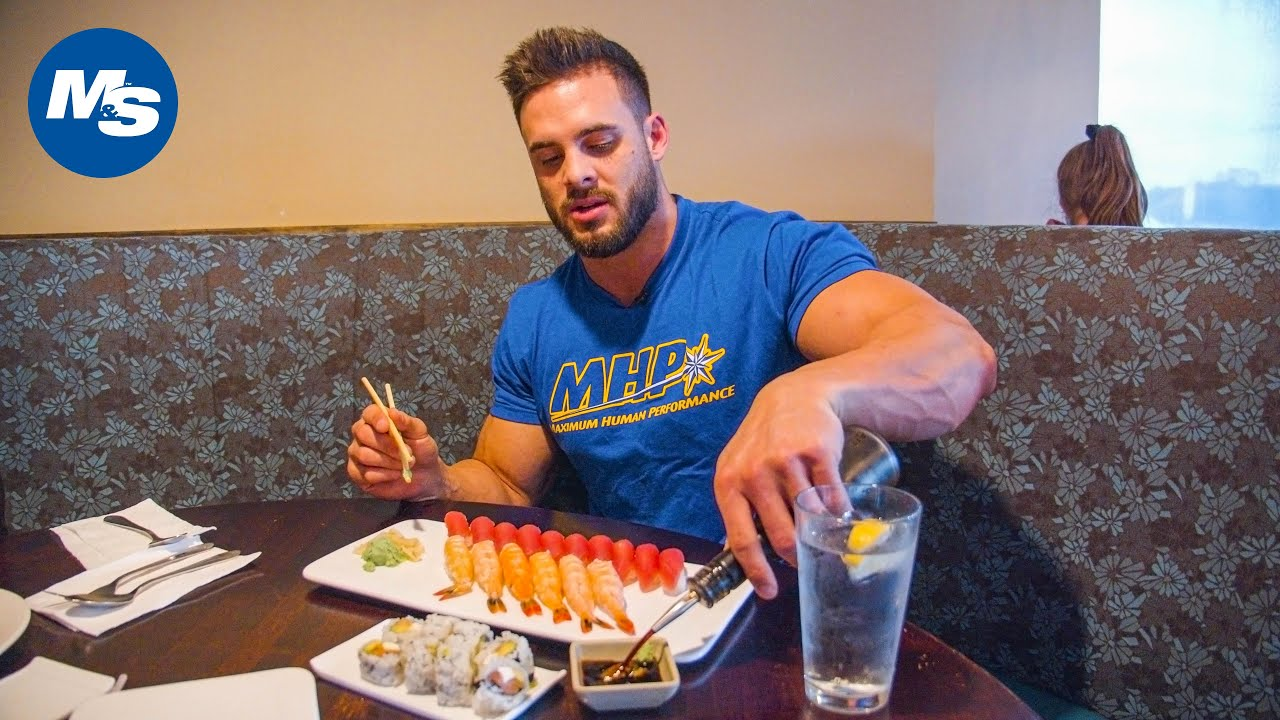 What Bodybuilders Eat At Restaurants | Sushi Feast | Logan Franklin