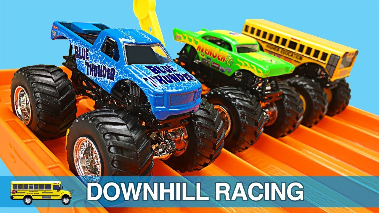 monster trucks for kids hot wheels monster jam monster truck racing for children toddlers. Black Bedroom Furniture Sets. Home Design Ideas